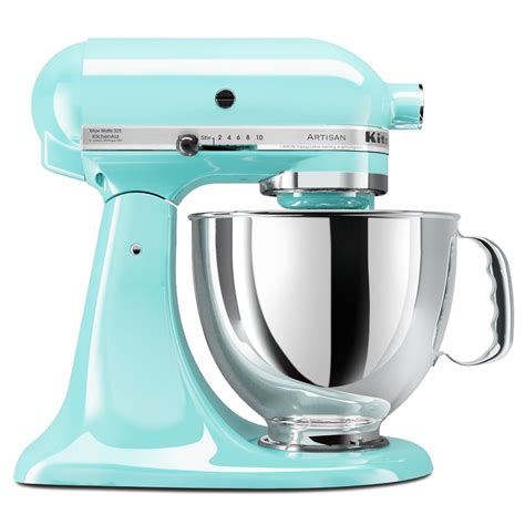 kitchen aid stand mixer littlekitchenshop kitchenaid artisan 5 quart stand mixer range in blue green