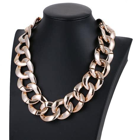 2016 new fashion jewelry choker necklace plastic chain