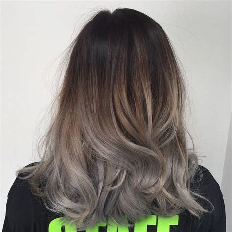 ash gray highlights on brown hair 1000 ideas about ash grey hair on pinterest grey brown