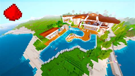 minecraft redstone house maps redstone beach house redstone modern house minecraft redstone maps youtube