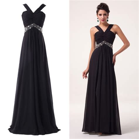 long chiffon formal evening ball gown prom dress bridesmaid party new womens ladies evening long chiffon dress ball gown