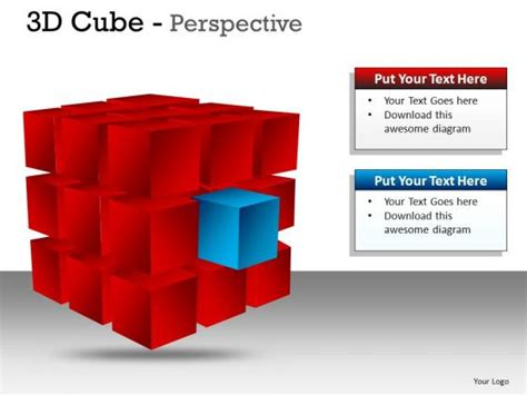 3d Cube Perspective Powerpoint Presentation Slides And Ppt Cube Powerpoint