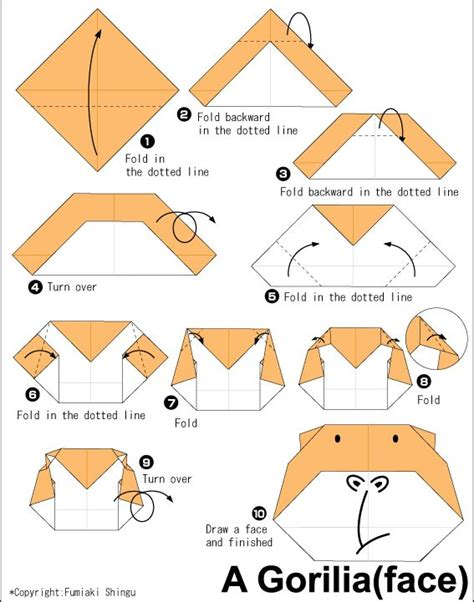 How To Make Origami Monkey - 17 best images about origami on elephant