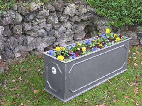 White Trough Planter by Trough Planter White 187 Home Decorations Insight