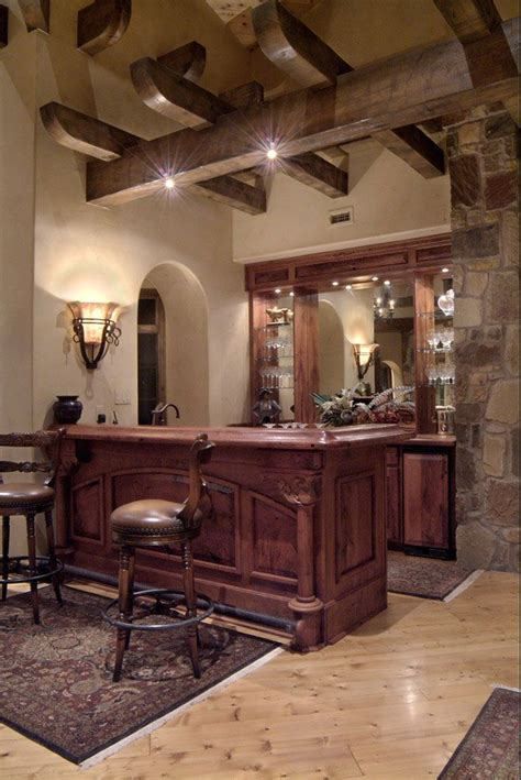 custom built home bar plans