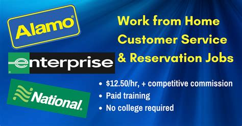12 50 hour working from home for alamo enterprise and