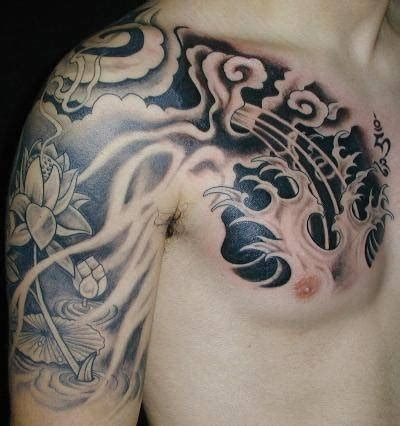oriental tattoo clouds chest tattoo images designs