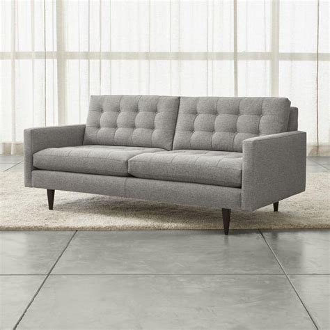 Large Gray Midcentury Button Tufted Sofa Gray Tufted Sofa