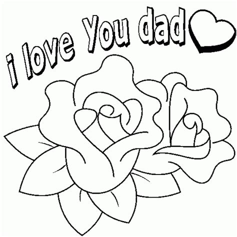 printable coloring pages for dads drawing for dad dad i love you father s day coloring to
