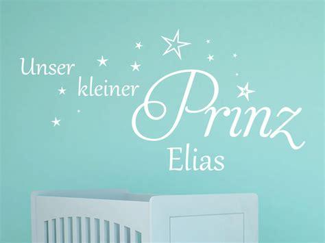 Wandtattoo Kinderzimmer Kleiner Prinz by Wandtattoo Kleiner Prinz Mit Name Klebeheld 174 De