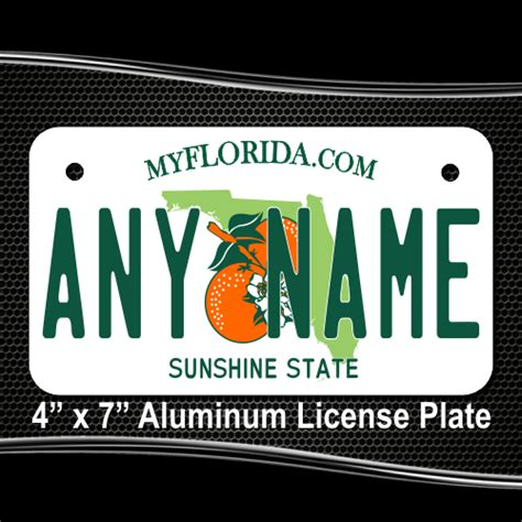 florida replica state license plate for bikes bicycles