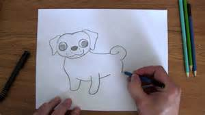easy pug drawing how to draw easy pug puppy