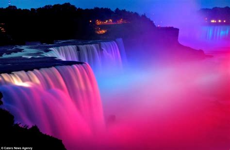 brightest color in the world the world s brightest water colours magical pictures of niagara falls lit up by spectacular
