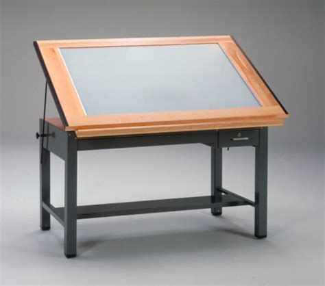 Metal Drafting Table Mayline Ranger Steel 4 Post Light Table 37 5 Quot X 60 Quot Top 7736 Blt