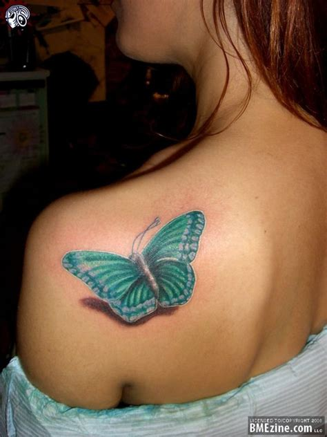 butterfly tattoo on shoulder left back shoulder butterfly 3d