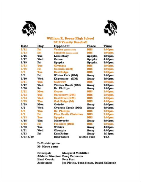 13 Game Schedule Sles Pdf Baseball Schedule Template