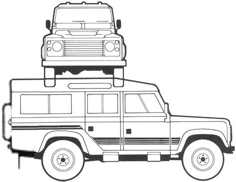 land rover defender vector car blueprints чертежи автомобилей land rover