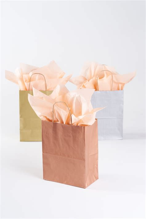 Paper Bag Welcome Size 40x33 20 metallic gold gift bags with handles size or