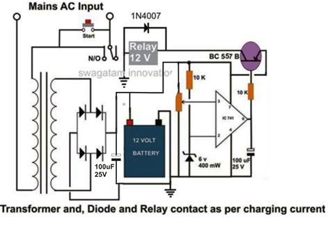 car battery charger diagram schematic 6v 4 5ah battery charger circuit circuit diagram