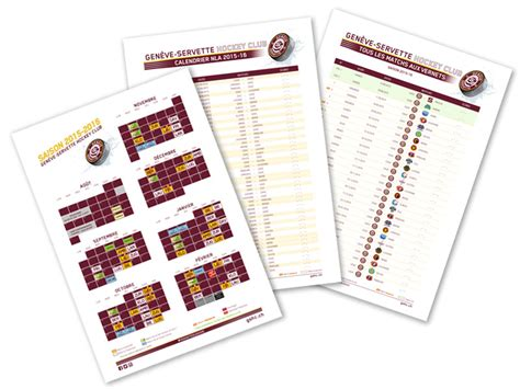 Calendrier Ligue Des Chions 2015 16 Le Calendrier 2015 16 Du Gshc 232 Ve Servette Hockey Club