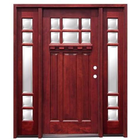 Craftsman Door Dentil Shelf by Pacific Entries Craftsman 6 Lite Stained Mahogany Wood