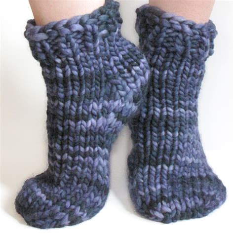 how to knit slippers free bulky sock pattern for magic loop toe up or top