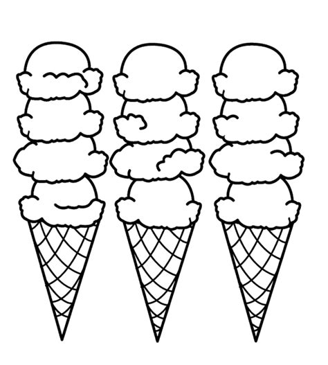 coloring pages ice cream scoops ice cream scoops coloring pages clipart free to use clip