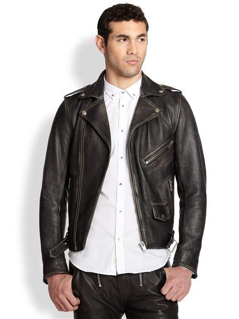Diesel 7758 Grey Black Leather lyst diesel seddik wolf printedback leather motorcycle