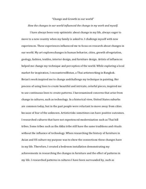 Artistic Essay by Ib Essay