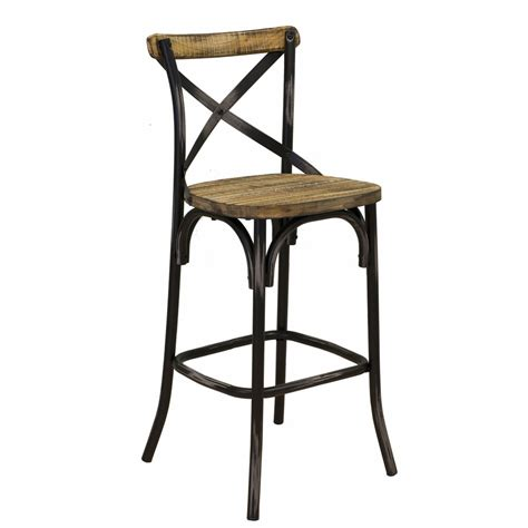 rustic industrial bar stools industrial rustic bar stool reclaimed wood pine 30 quot seat