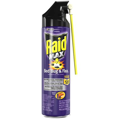 raid bed bug flea killer insecticide  oz aerosol  outdoor living pest control