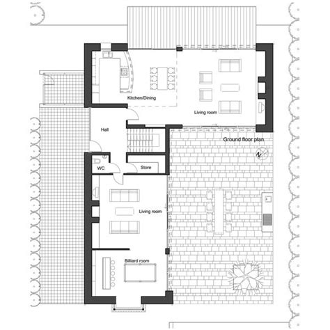 floor plan l shaped house l shape house plan by architect frank mcgahon house plans pinterest house