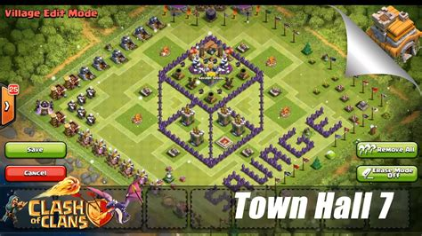 offensive layout in coc clash of clans best th7 farming base car interior design