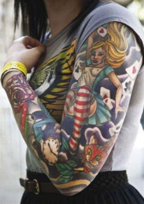 chest tattoo alice in wonderland alice in wonderland sleeve amazing tattoos pinterest