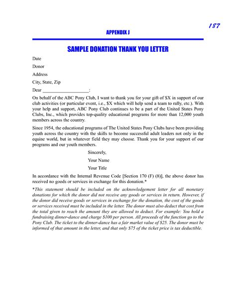 Thank You Letter Donor sle donation thank you request letter sle picture