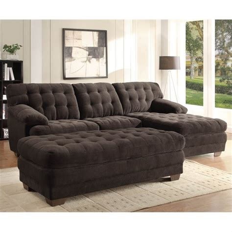 oversized sectionals trent home brooks oversized tufted 3 piece sectional in