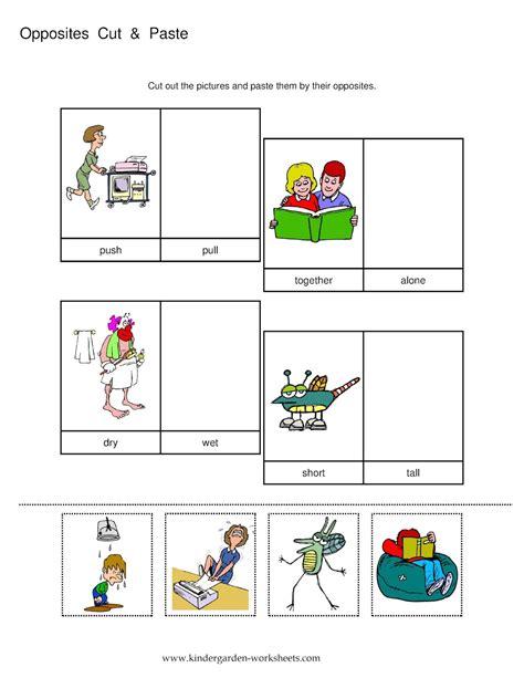 printable worksheets opposites kindergarten opposites worksheet kindergarten opposites flashcards