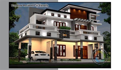 kerala home design on facebook 2147 sq ft contemporary double floor home design home
