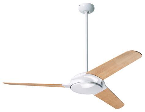 modern fan company flow gloss white 52 quot ceiling fan wall