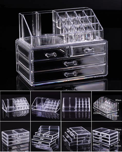 Clear Drawer Makeup Organizer by Clear Acrylic Cosmetic Organizer Makeup Drawers Display