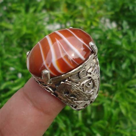 Batu Akik Pamor Singkir Baya Merah cincin mustika naga geni mistik center