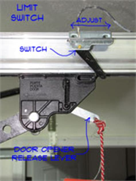Garage Door Limit Switch by Adjusting Garage Door Limit Switches Garage Doors