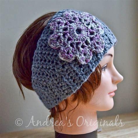 head wrap crochet pattern flower head wrap and warmer pattern by andrea harrison