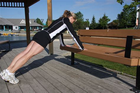 bench push ups standing abs fitness fatloss tips and ideas for busy women