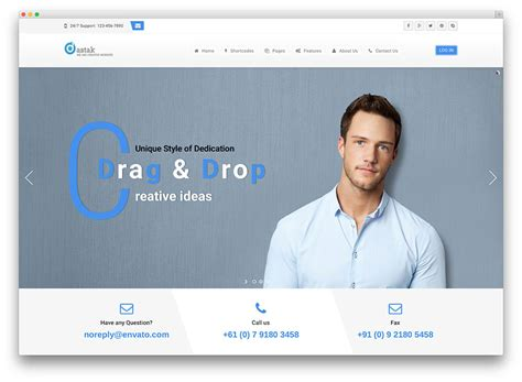 wordpress themes free for it business 40 best wordpress corporate business themes of 2017