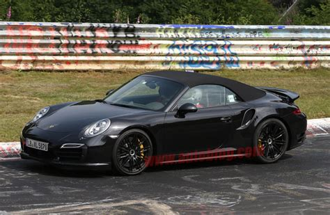 porsche  turbo cabriolet spotted testing   nude