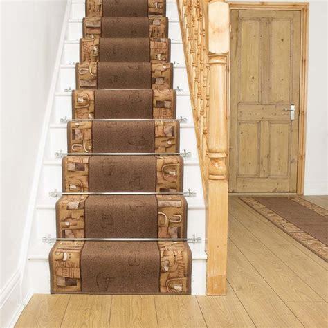 stair rug runners cheap feria brown stair carpet runner for narrow staircase cheap modern non slip new ebay