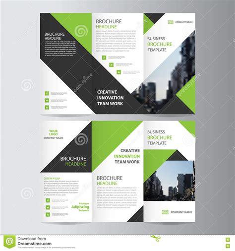 leaflet design eps green black elegance business trifold business leaflet