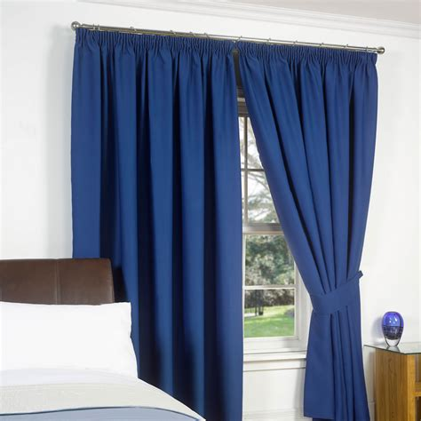 blackout lined curtains thermal pencil pleat blackout pair curtains ready made