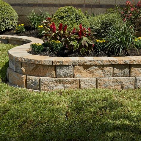 pavestone rockwall 3 4 in x 9 in yukon garden wall block